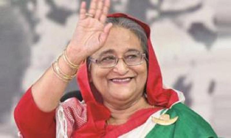 Prime minister Sheikh Hasina reaches London