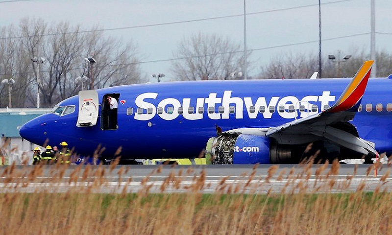 Southwest Airlines jet engine 'explosion' leaves woman dead