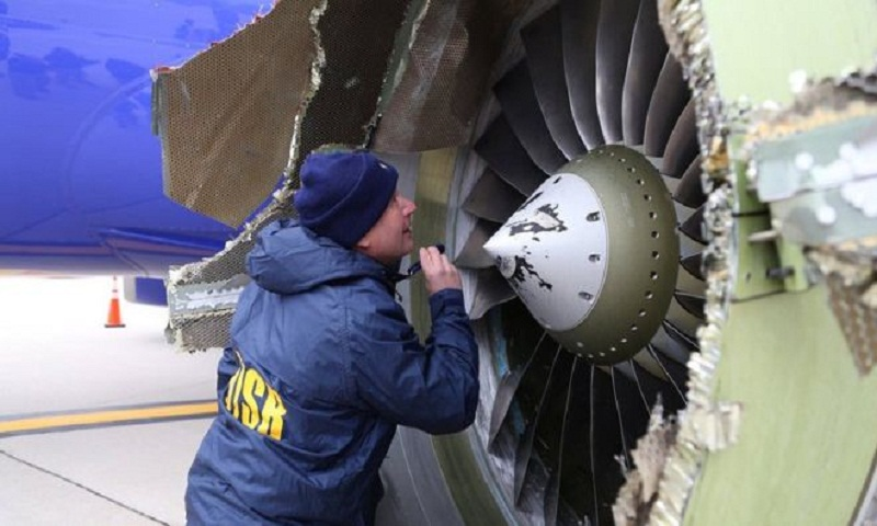 Southwest Airlines engine explosion: US orders fan blade inspections