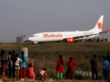 Kathmandu airport closed after jet skids off runway