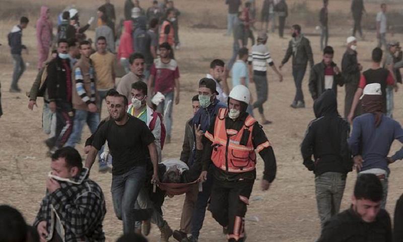 Israeli fire in new Gaza border protest kills four Palestinians