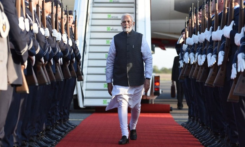 PM Modi completes three-nation Europe tour, back in India