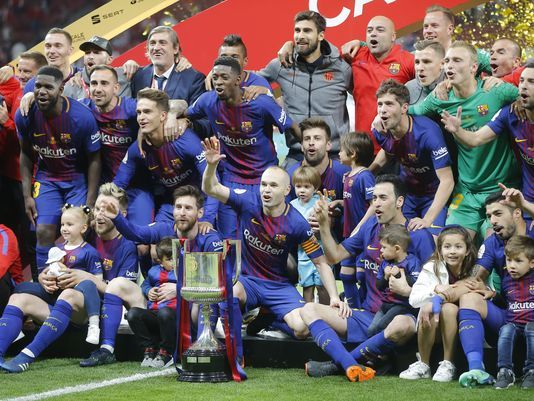 Barcelona easily wins historic 4th straight Copa del Rey