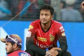 Shakib's Sunrisers concede 2nd defeat in IPL