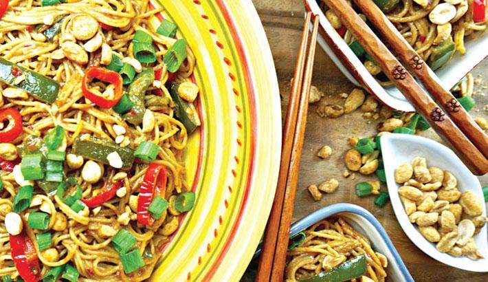 Lip-Smacking Peanut Butter Noodles