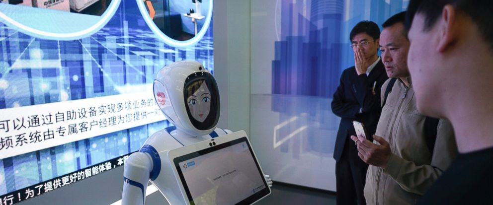 Shanghai gets automated bank with VR, robots, face scanning