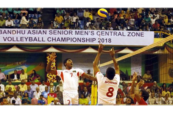 Bangladesh storms into semis in Bangabandhu volleyball