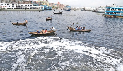 Buriganga turns toxic