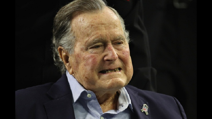 George H.W. Bush in hospital with blood infection