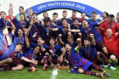 Barcelona beats Chelsea 3-0 in UEFA Youth League final