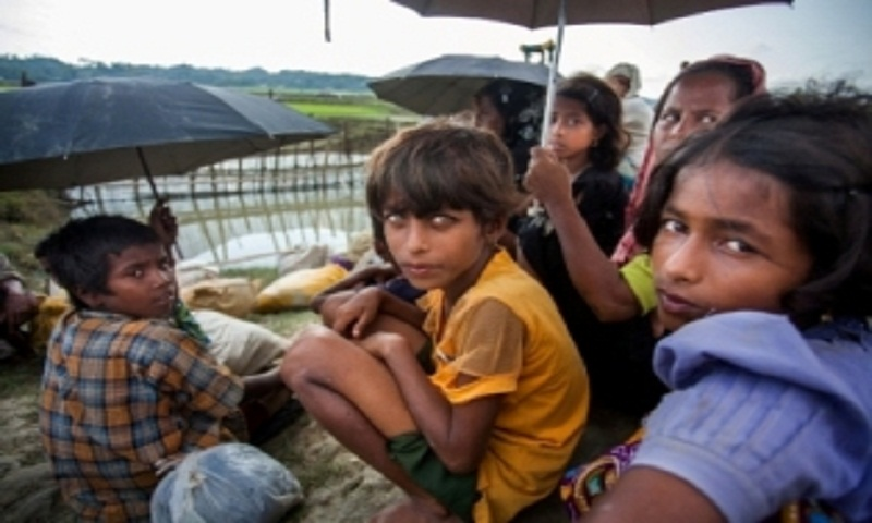 Rohingya families reinforce shelters ahead of monsoon