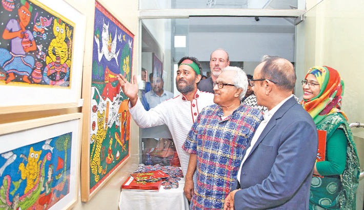 Pattachitra exhibition Baishakh in the Land of Tiger underway at AFD