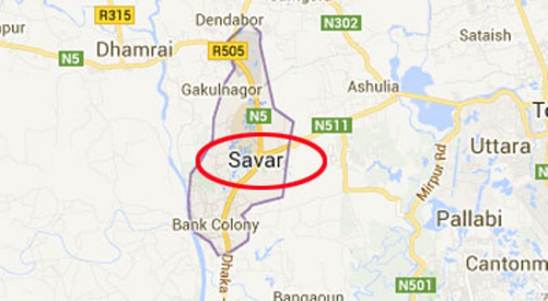 Savar garment factory workers protest for due salaries