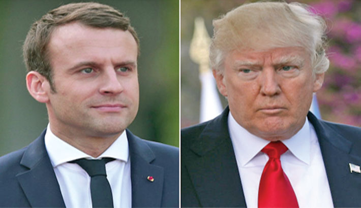 Trump may scrap nuke deal with Iran: Macron