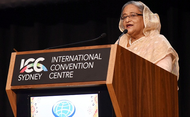 PM places four-point thought on global women dev