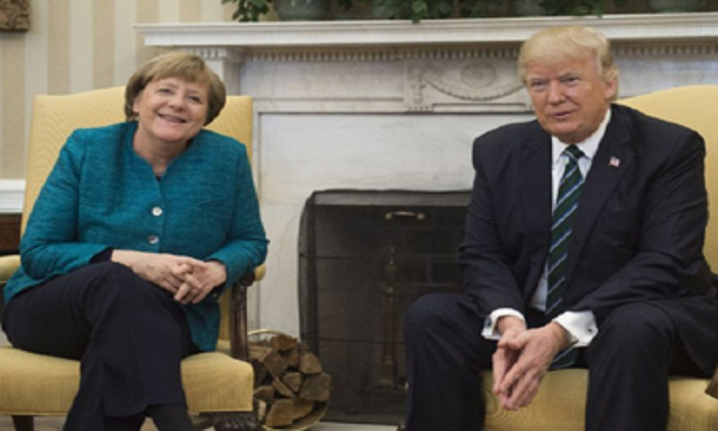 Merkel in Washington to make Germany heard again