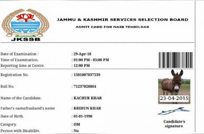 Donkey gets admit card to write exam in India!