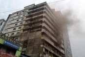 Garment factory catches fire in city