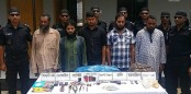 5 JMB men held in Chapainawabganj