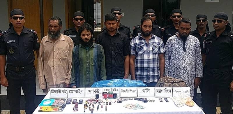 5 JMB men held in Chapainawabganj