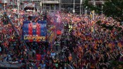 Barcelona celebrates La Liga triumph in city parade