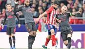 Atletico spoil Arsenal's Europa League dream