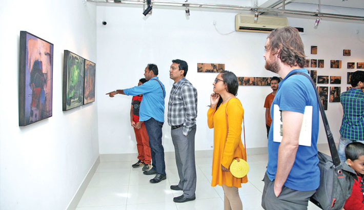 Art exhibition Displaced in Dhaka begins at AFD