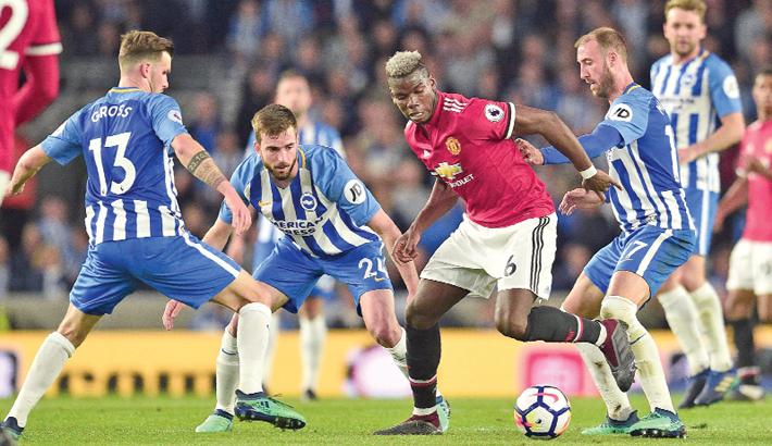 Brighton beat Man Utd to secure EPL survival