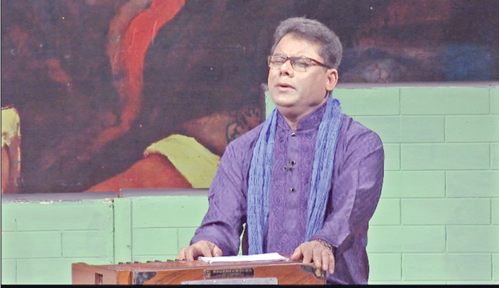 Solo musical evening of Kamal Ahmed on Rabindra anniv
