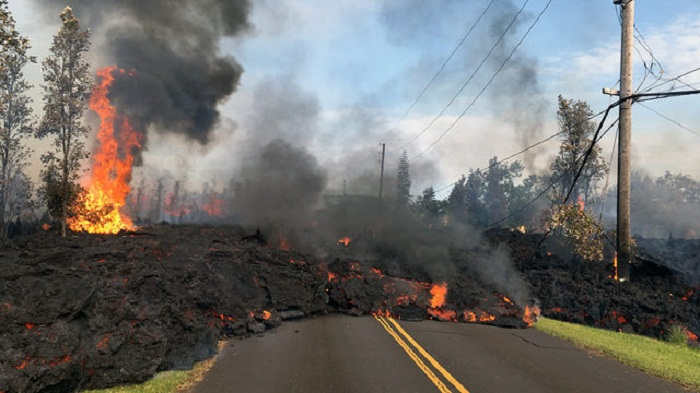People tried but failed to stop lava from flowing