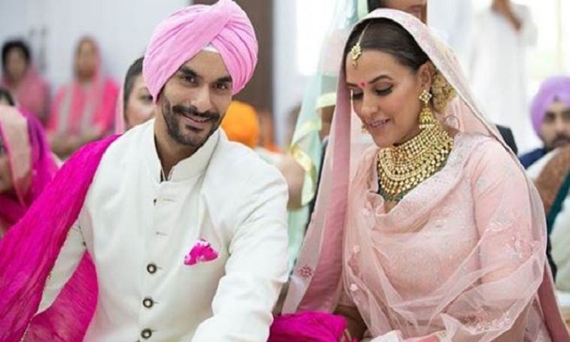 Neha Dhupia ties the knot with Angad Bedi