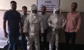 India police parade 'Nasa conmen' in space suits