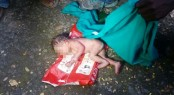 Newborn rescued from Mohammadpur dustbin