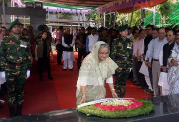 Prime Minister pays homage to Bangabandhu on satellite launching