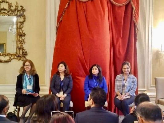 Anika Chowdhury addresses at Harvard University on women's leadership