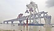 Padma bridge's 4th span installed