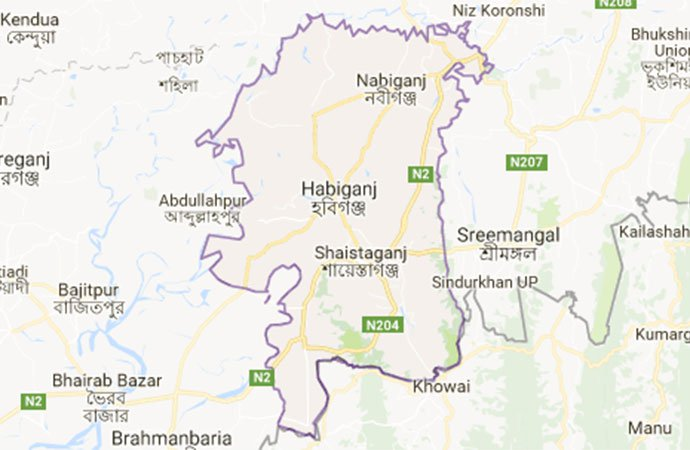 Three killed in Habiganj road crash