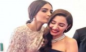 Cannes 2018: Sonam Kapoor planted a kiss on Mahira Khan's forehead
