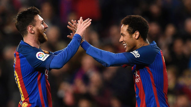 Messi: Neymar joining Real Madrid would be 'terrible'