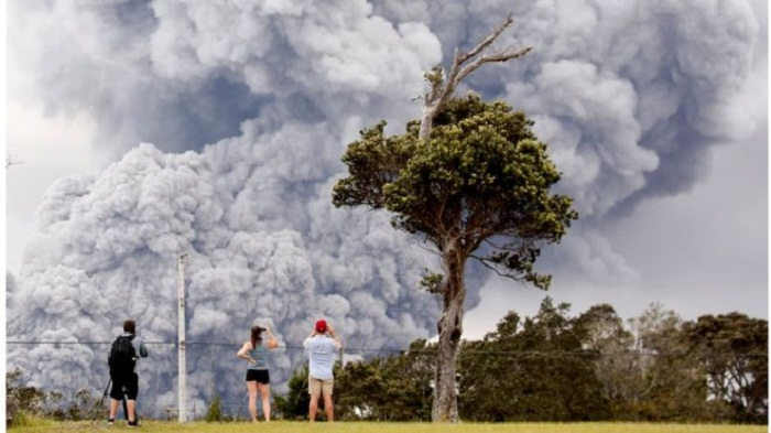 Explosive eruption at Hawaii's Mount Kilauea volcano