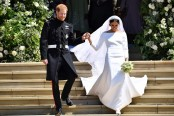 Divided Britain unites for royal wedding revelry