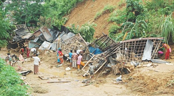 Eviction drive begins in Chattogram hills amid rain