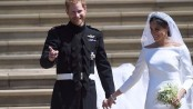 Couple leave Windsor after royal wedding