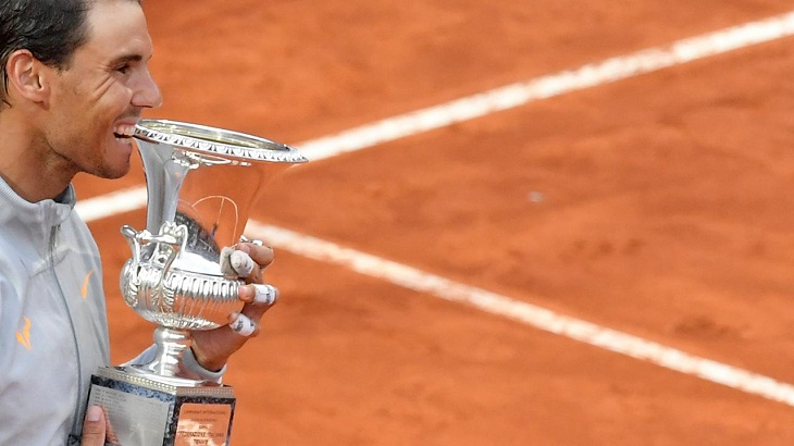 Rain helps Nadal claim stunning eighth Rome Masters title