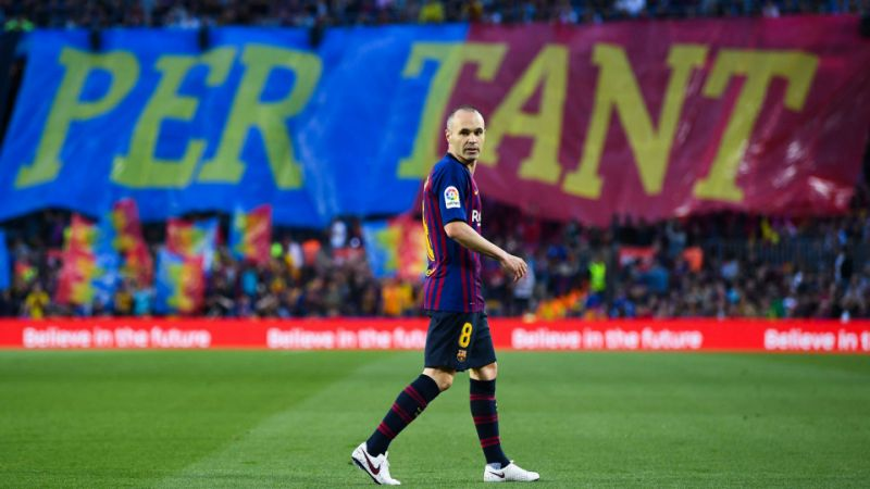 Barcelona beat Real Sociedad 1-0 in Andres Iniesta's final match with club