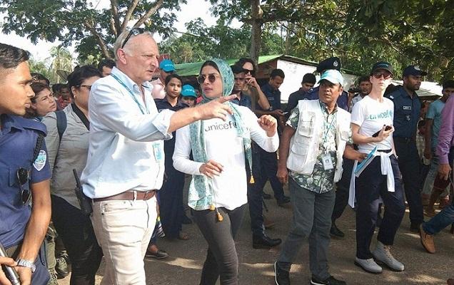 Priyanka Chopra visits Rohingya camps in Cox's Bazar