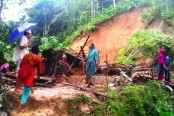 Landslide kills five in Bandarban
