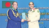 Hands over the 'King Abdulaziz Collar Merit of Excellent Class'