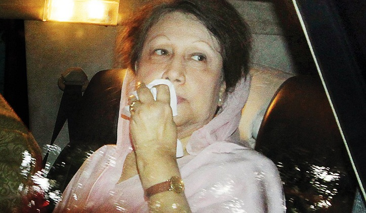 Hearing on Khaleda's bail pleas in 2 cases adjourned for Wednesday