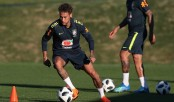Neymar back in training with Brazil ahead of World Cup
